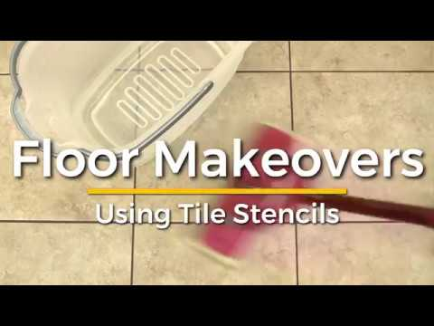 how to makeover your tile and cement floors with trendy stencils rh youtube com