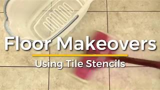 How To Makeover Your Tile and Cement Floors With Trendy Stencils