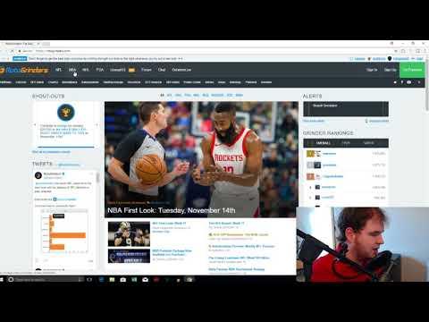 Daily Fantasy Sports Advisor NBA DFS 11.14.2017