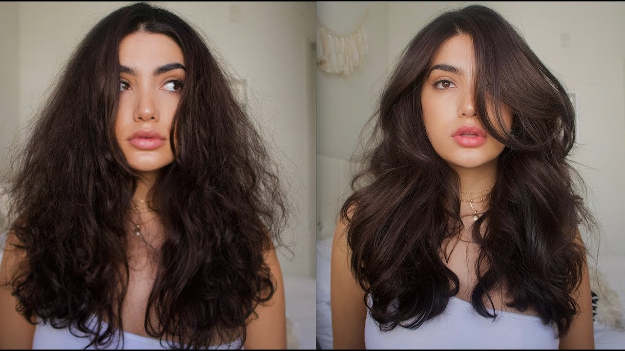 HOW TO GET BIG VOLUMINOUS HAIR / TAME FRIZZY HAIR - YouTube