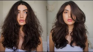 HOW TO GET BIG VOLUMINOUS HAIR / TAME FRIZZY HAIR