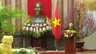 Tổng Bí thư chúc Tết lãnh đạo, nguyên lãnh đạo Đảng, Nhà nước Tết cổ truyền Mậu Tuất