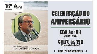Culto de Celebração / Rev. Obedes Júnior / 20/09/2020