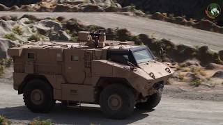 IDEX 2019 Paramount Mbombe 4x4 and new combat vehicles of UAE armed forces