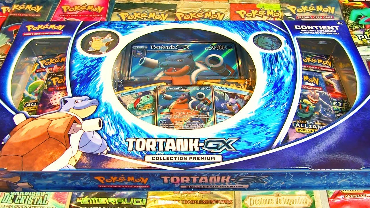 Ouverture Du Mega Coffret Pokemon Tortank Gx Collection Premium Youtube