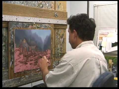 Twilight Cottage - Thomas Kinkade Paints in his Studio
