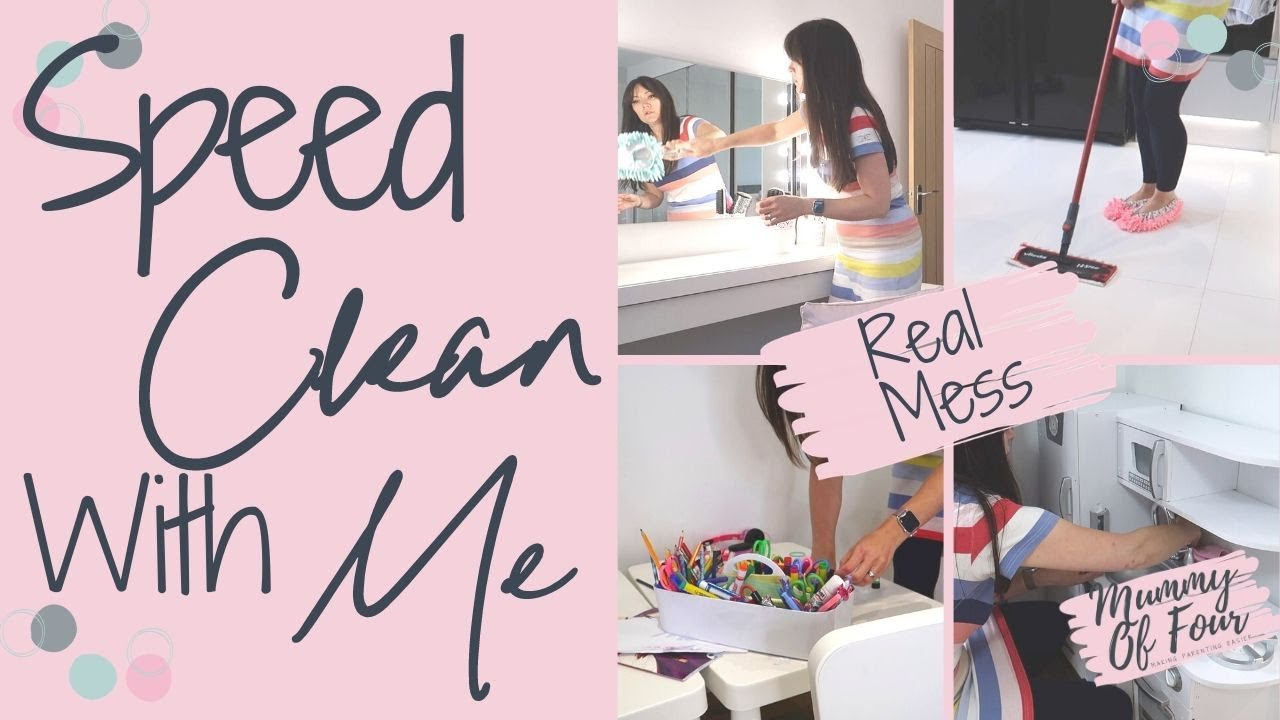 SPEED CLEAN & DO LAUNDRY WITH ME  | CLEANING MOTIVATION | CLEANING MY MESSY HOUSE | MUMMY OF FOUR UK