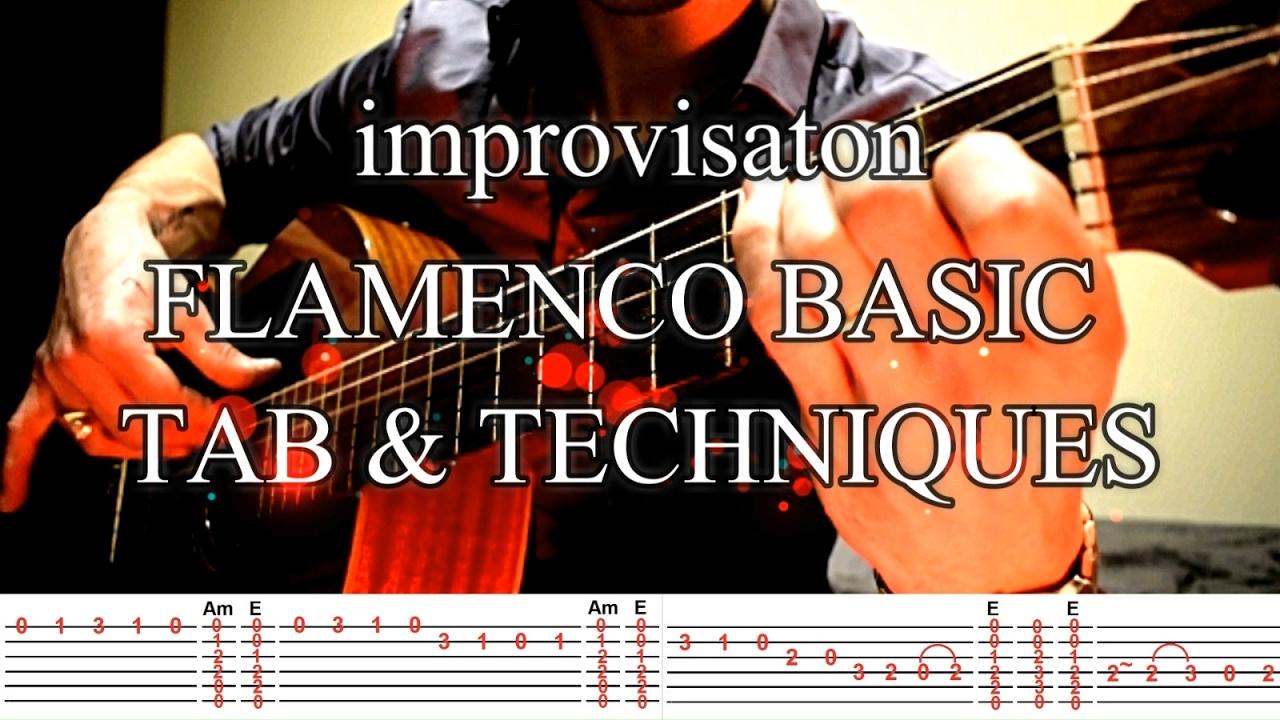 TAB TUTO Flamenco Espagnol Débutant Guitare Impro [EASY ...