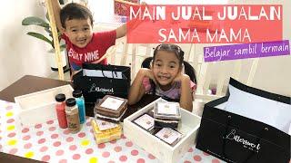 Drama Anak Jual Jualan Kue Coklat bersama Mama | Homeschooling Zara Cute sambil Bermain | Let's Play