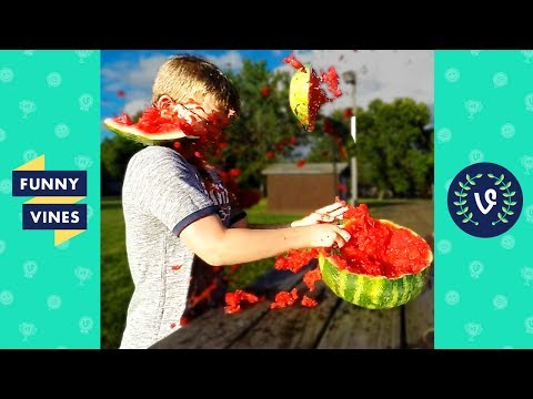 TRY NOT to LAUGH or GRIN - EXPLODING WATERMELON CHALLENGE Compilation   Funny Vines Videos