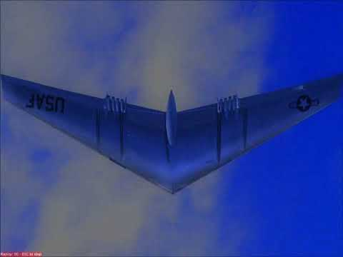 (FS2004) Northrop Flying Wing (YB-49) test flight