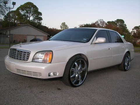 3154amg 2001 Cadillac Deville Pearl White 22 Inch Rims And