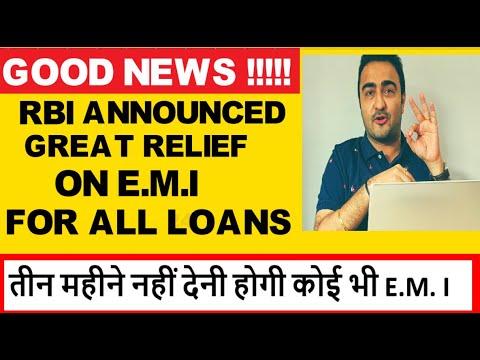 Latest News-EMI पर तीन महीने की छूट, RBI ने कोरोना संकट में खोले राहत के दरवाजे- RBI POLICY TODAY
