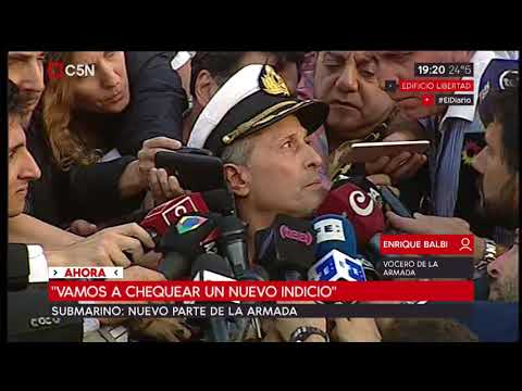 """Submarino: Nuevo parte oficial del ARA San Juan: """"Vamos a chequear un nuevo indicio"""""""