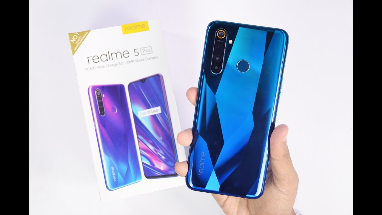 Realme 5 Pro Unboxing & Hands on Review - Crystal Green Color | 48MP Quad  Camera Samples 🔥 - YouTube