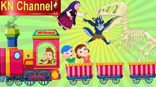Hoạt Hình KN Channel BỘ XƯƠNG KHỦNG LONG ĐI TÀU LỬA BỊ PHÙ THỦY HỒI SINH