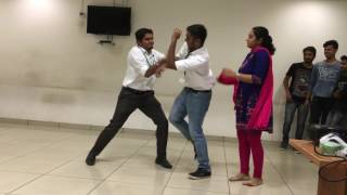 """Only Chance"" Presents funny skit at office celebration"