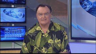 Joe explains his aloha shirt
