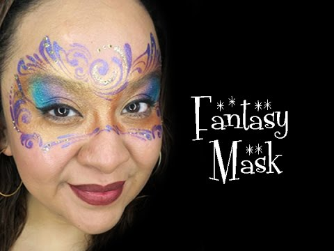 Fantasy Mask Face Painting Tutorial