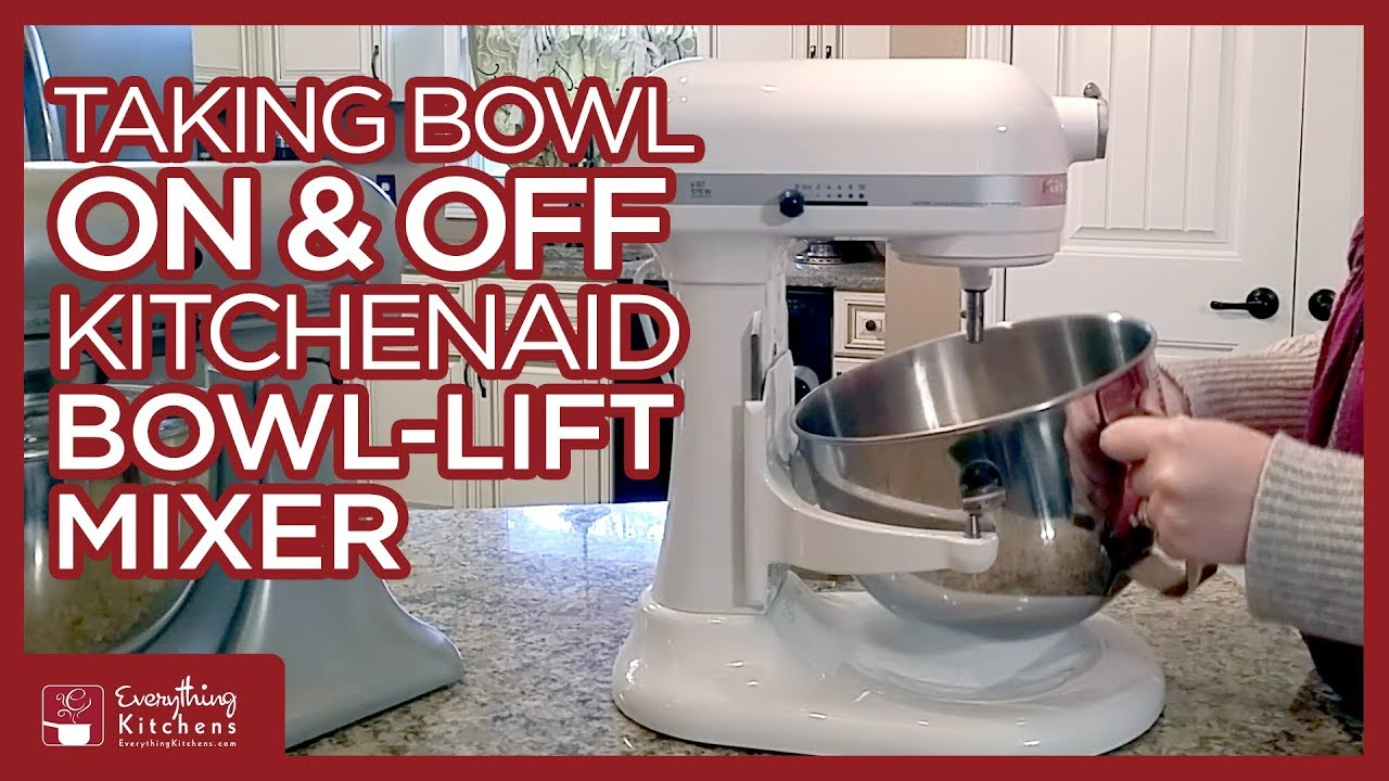 kitchen aid bowls bosch machine taking the bowl on off a kitchenaid lift mixer youtube