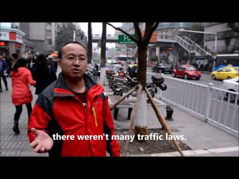 Chongqing Traffic - A Compromise between Pedestrians and Transportation