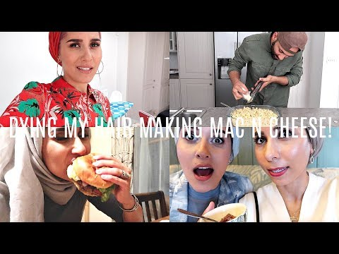 DYING MY HAIR PINK & MAKING MAC N CHEESE