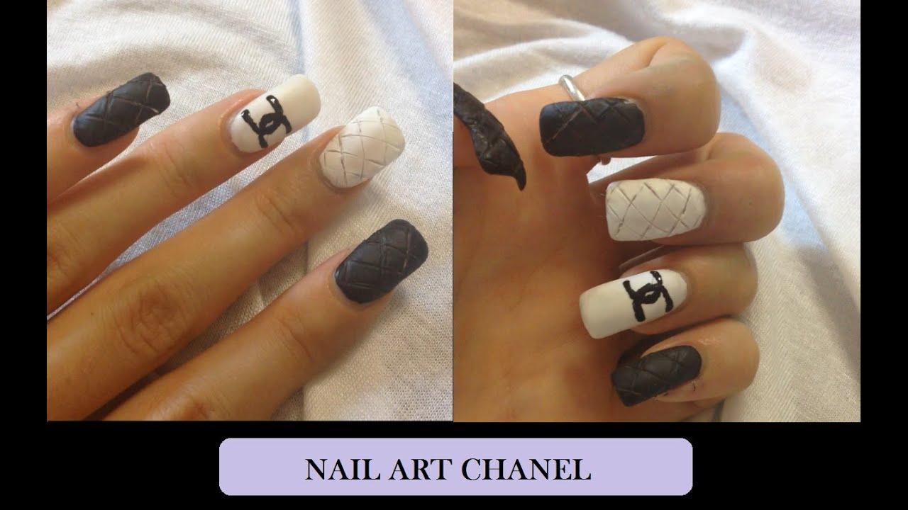 Nail Art ispirata a Chanel | InfiniteLashes - YouTube