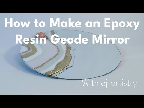 How to Make an Epoxy Resin Geode Mirror