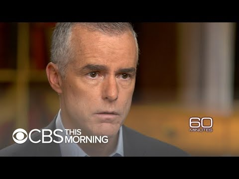 """Andrew McCabe tells """"60 Minutes"""" why he opened investigations involving Trump"""