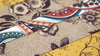 Sewing Quilt Squares Together with Fabric Strips as You Go