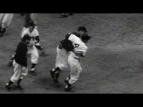 WS1953 Gm6: Yanks win Series on Martin