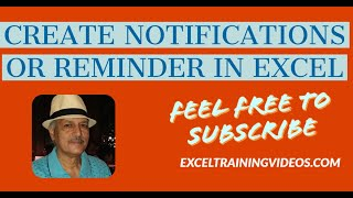 How to create notifications or reminders in Excel thumbnail
