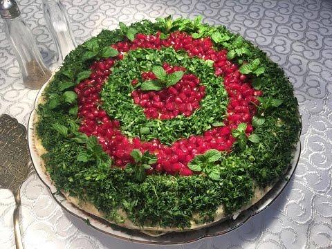 Napoleon salatı. Hazır lavaşdan çox ləzzətli sobada hazırlanan  qat-qat salat.