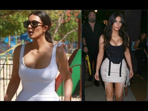 Видео, Ким Кардашян похвасталась формами в обтягивающем платье