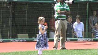 Kailee Shaver Cleveland Indians National Anthem 8/23/2011