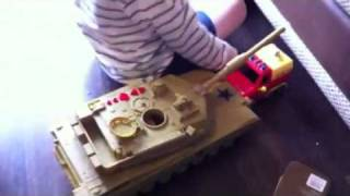 Tank Crushes Fire Engine