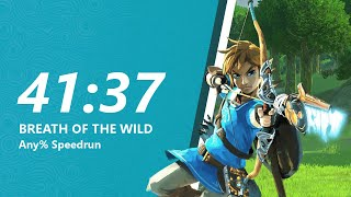 Breath of the Wild Any% Speedrun in 41:37