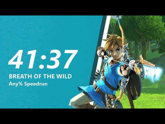 Breath of the Wild Any% Speedrun in 41:37