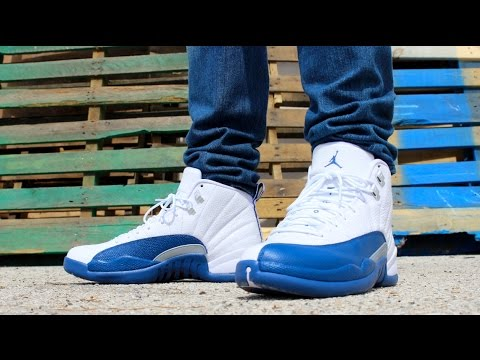 air jordan french blue 12 on feet