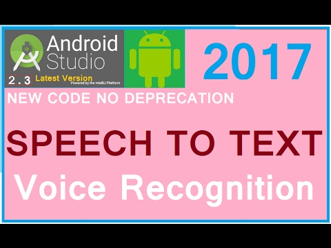 Android studio 3 2 1 tutorial  Recognition of voice in android apps   Android speech to text example