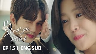 Yoo Seung Ho is Winking Only for Cho Bo Ah and Others Cant See  My Strange Hero Ep 15