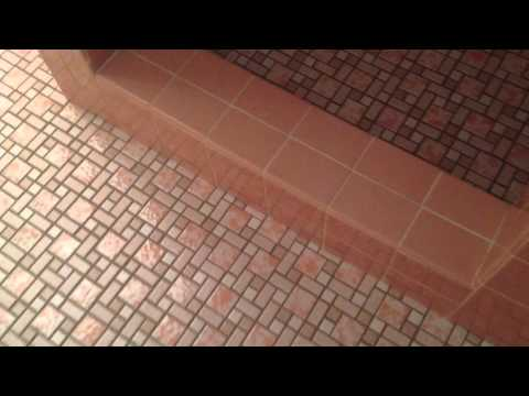 Kate's bathroom remodel -- walls grouted -- Retro Renovation TV