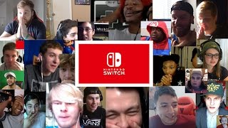 Nintendo Switch Live Reactions (20+ Youtubers Synchronized Compilation)