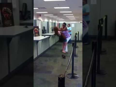 Women Fighting at immigration office