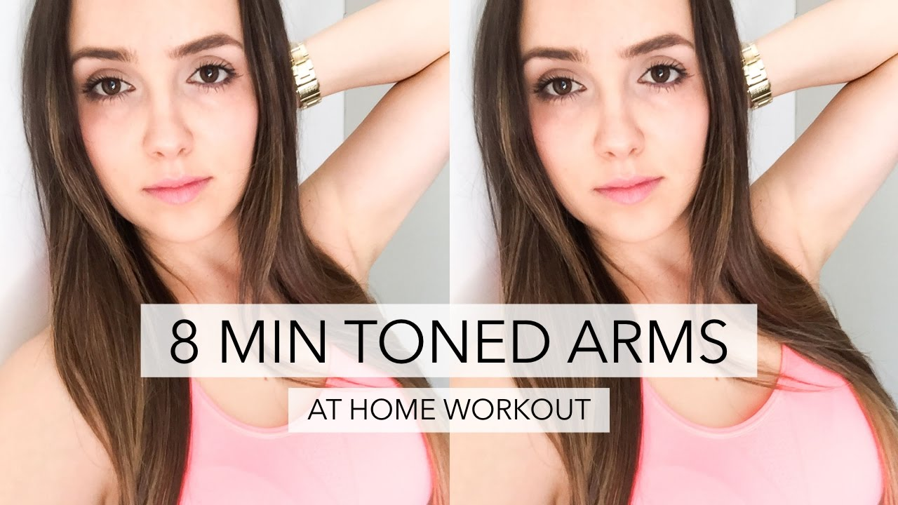 how to lose arm fat toned arms workout 8 mins youtube