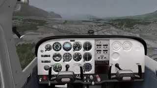 FSIM - X-Plane 10 - Vol VFR commenté entre Annecy et Chambery en Cessna 172 Carenado
