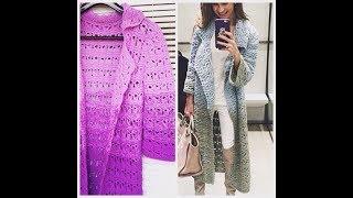 Вязание Крючком - Женские Ажурные Кофточки, Кардиганы 2018 / Knitting Crochet Blouses Cardigans