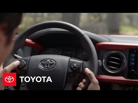 The New Tacoma L Steering Wheel Controls | Toyota