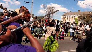 young pinstripe brass band (vol 4, uptown mardi gras indians