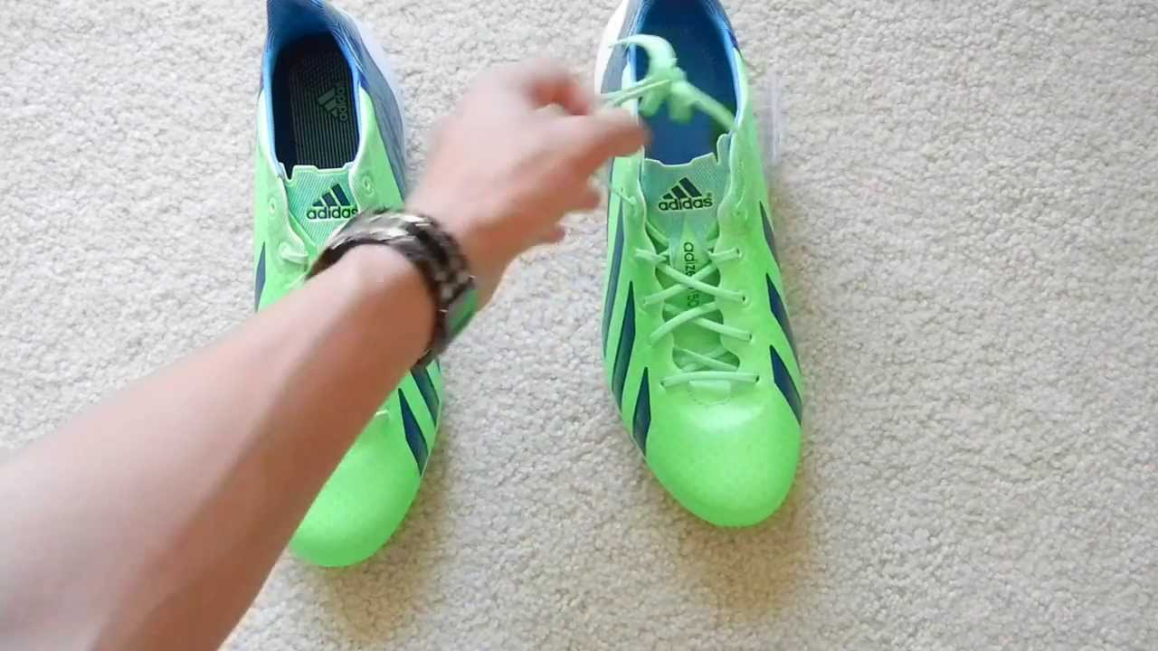 brand new d6747 cf88e UNBOXING Messi boots - Adidas f50 Adizero MiCoach 2 Synthetic - Green Zest